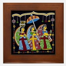 Indian Folkart Framed Tile