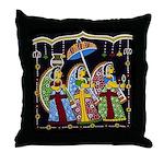Indian Folkart Throw Pillow