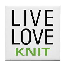 Live Love Knit Tile Coaster