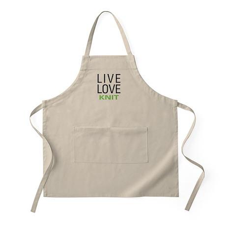 Live Love Knit BBQ Apron