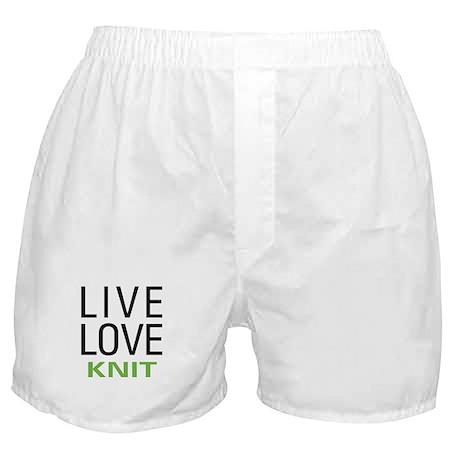 Live Love Knit Boxer Shorts