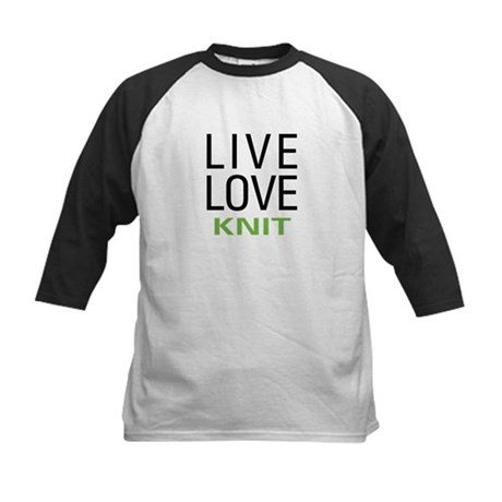 Live Love Knit Kids Baseball Jersey