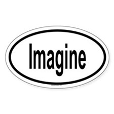 IMAGINE Oval Decal
