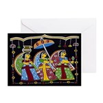 Indian Folkart Greeting Cards (Pk of 10)