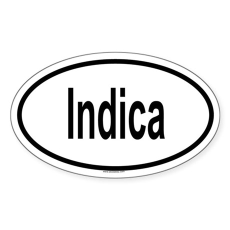 INDICA Oval Sticker