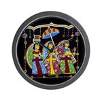 Indian Folkart Wall Clock