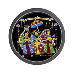 Indian Folkart Wall Clock