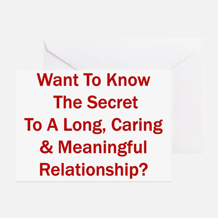 """Secret To A Long Relationship"" Greeting"