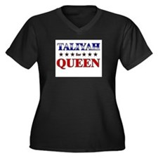 TALIYAH for queen Women's Plus Size V-Neck Dark T-