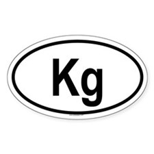 KG Oval Decal