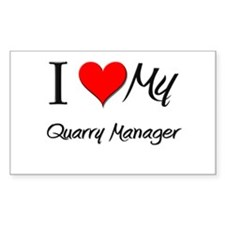 I Heart My Quarry Manager Rectangle Decal