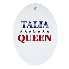 TALIA for queen Oval Ornament