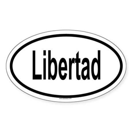 LIBERTAD Oval Sticker