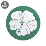 "Tropical Hibiscus Flower Art 3.5"" Button (10 pack)"