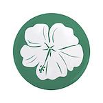 "Tropical Hibiscus Flower Art 3.5"" Button"