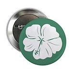 "Tropical Hibiscus Flower Art 2.25"" Button"