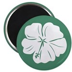 "Tropical Hibiscus Flower Art 2.25"" Magnet (100 pac"