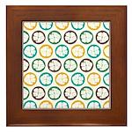 Tropical Hibiscus Flower Art Framed Tile