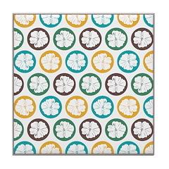 Tropical Hibiscus Flower Art Tile Drink Coaster