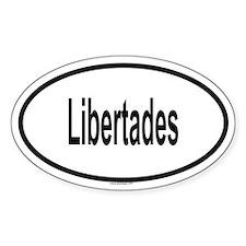 LIBERTADES Oval Decal