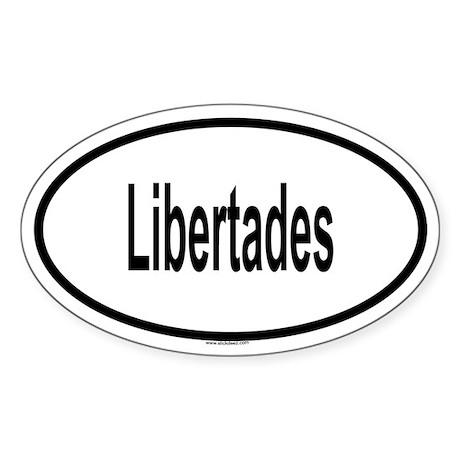 LIBERTADES Oval Sticker