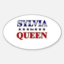 SYLVIA for queen Oval Decal