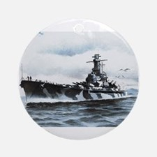 USS Alabama Ship's Image Ornament (Round)