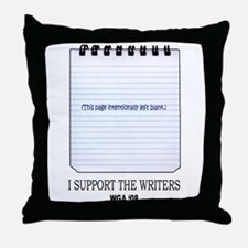 Support the Writers Throw Pillow