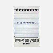 Support the Writers Rectangle Magnet
