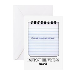 Support the Writers Greeting Cards (Pk of 20)