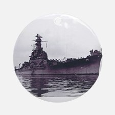 USS South Dakota Ship's Image Ornament (Round)