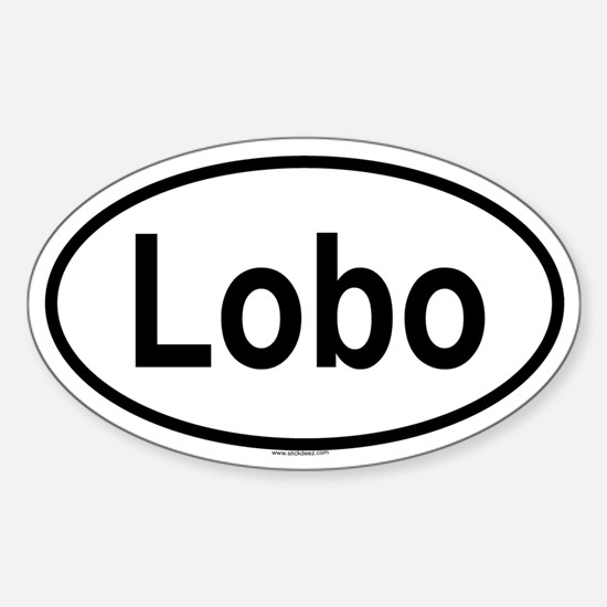 LOBO Oval Decal