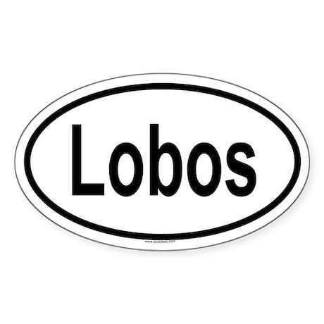 LOBOS Oval Sticker