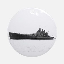 USS Washington Ship's Image Ornament (Round)