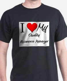I Heart My Quality Assurance Manager T-Shirt