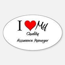 I Heart My Quality Assurance Manager Decal
