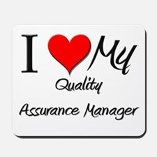 I Heart My Quality Assurance Manager Mousepad