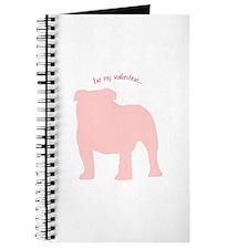 Bulldog... Be My Valentine Journal