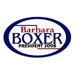 Barbara Boxer in 2008 (oval bumper sticker)