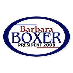 Barbara Boxer in 2008 (oval bumper sticker)