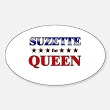 SUZETTE for queen Oval Decal