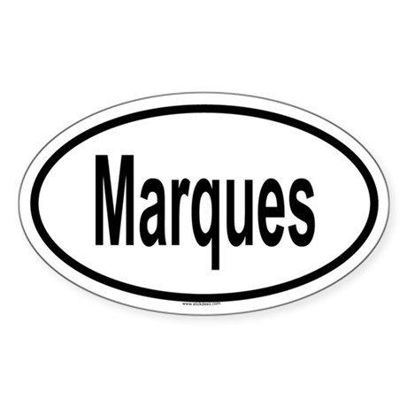 MARQUES Oval Sticker