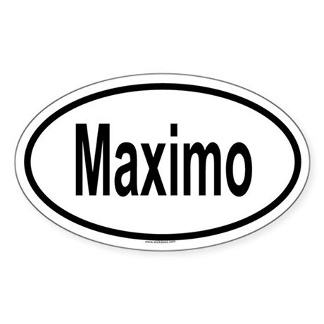 MAXIMO Oval Sticker
