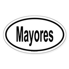 MAYORES Oval Decal