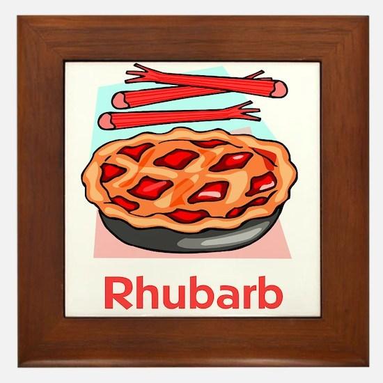 Rhubarb Framed Tile