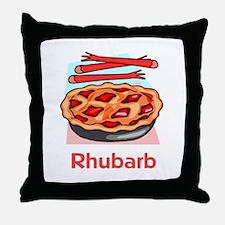 Rhubarb Throw Pillow