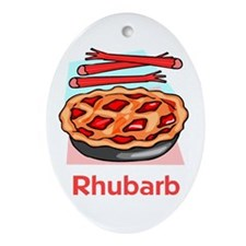 Rhubarb Oval Ornament