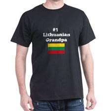 #1 Lithuanian Grandpa T-Shirt