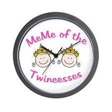 Meme of Twincesses Wall Clock