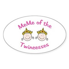 Meme of Twincesses Oval Decal